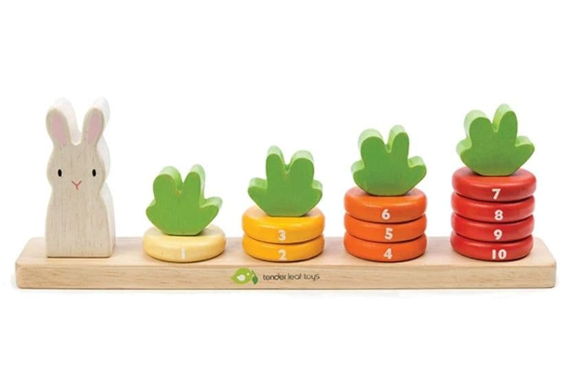 Counting Carrots Wooden Toy | Hampers by Lauren