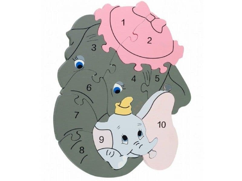 Dumbo Wooden Number Puzzle