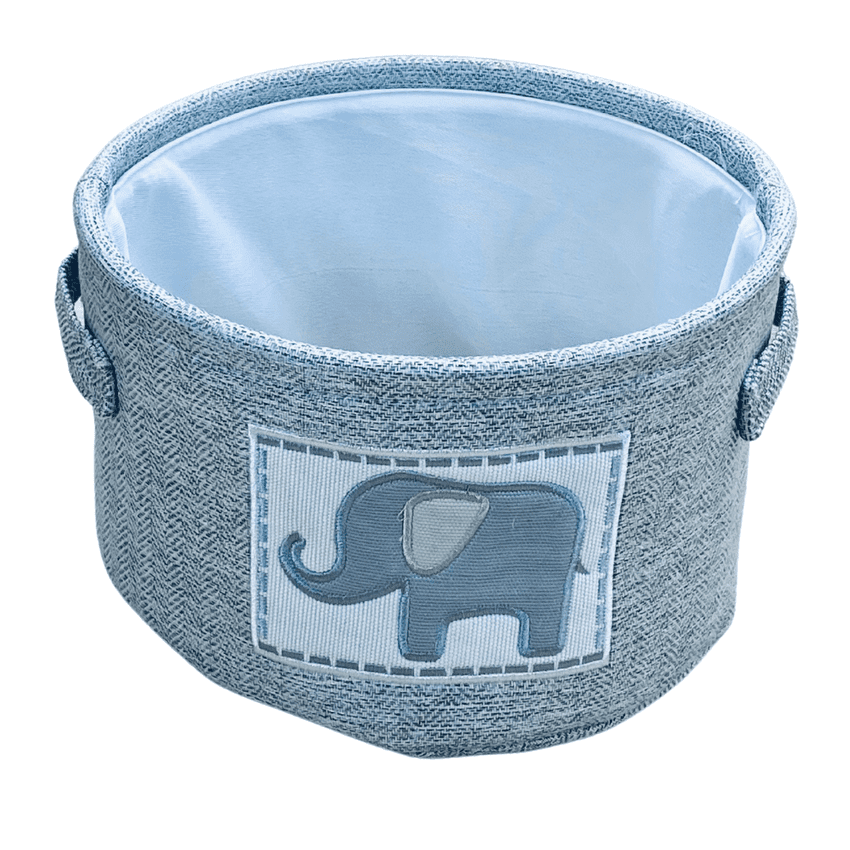 Grey Elephant Small Toy Storage Basket   Hampers by Lauren