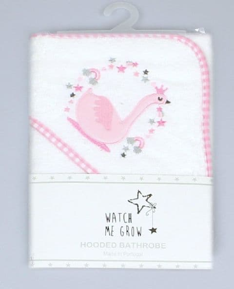 Pink Swan Hooded Baby Towel 100% Cotton