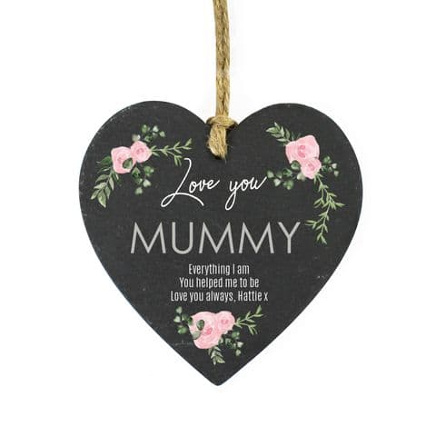 Rose Design Personalised Slate Plaque