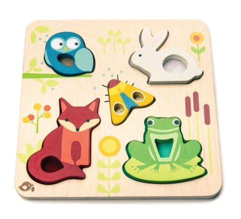 Sensory Tactile Animal Wooden Puzzle