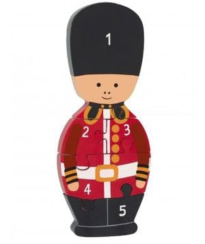 Solider Wooden Number Puzzle