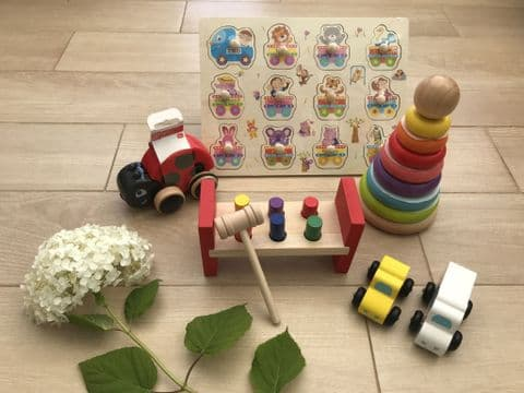 Wooden Children's Toy Hamper