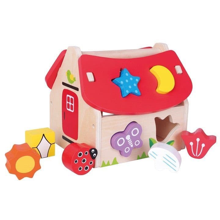 Wooden House - Colourful Shape Sorter