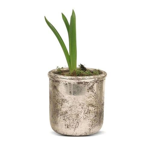 Birkdale Circle Pot in Silver Finish