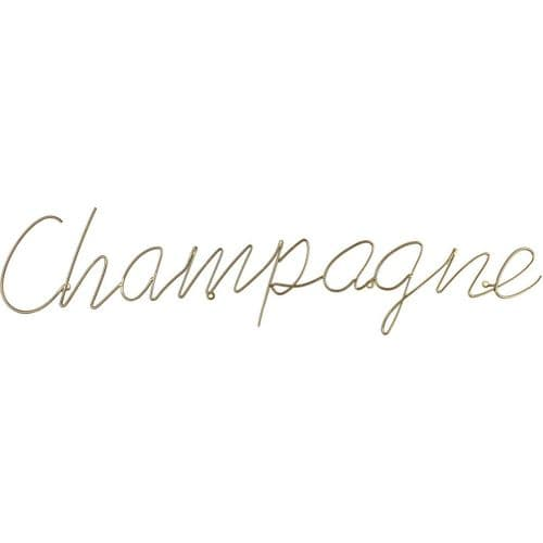 Champagne Sign In Gold Finish