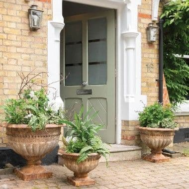 Clovelly Set Of 3 Rusted Copper Iron Pots