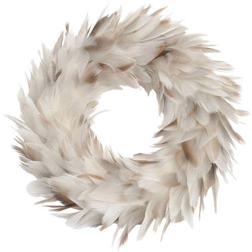Small Feather Brown Wreath