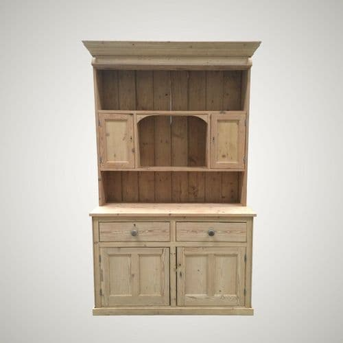 SOLD Antique Vintage Large Stripped Pine Welsh Kitchen Dresser Finished Your Way