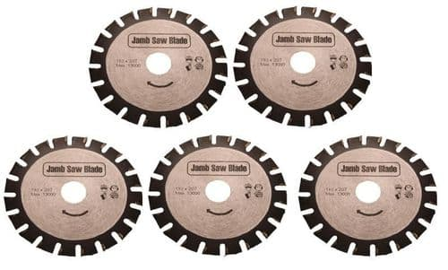 5 x Undercut Jamb Saw Blades 110mm Flooring Trimmer fits Roberts 10.42 110v 230v