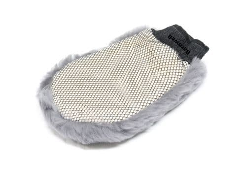 Barnwell Grey Lambswool Wash Mitt with Bug Netting