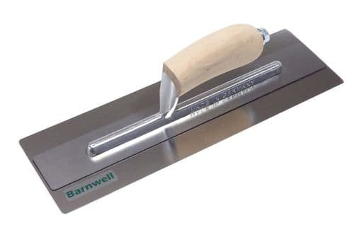 "Barnwell PlasterFlex 14"" Trowel with Wooden Handle"