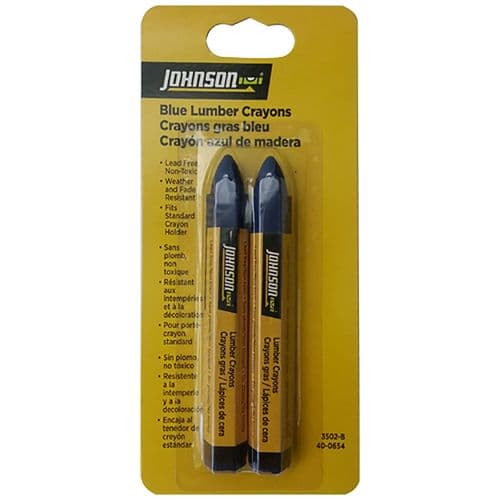Johnson Pack of 2 Lumber Crayons in Blue 3502-B