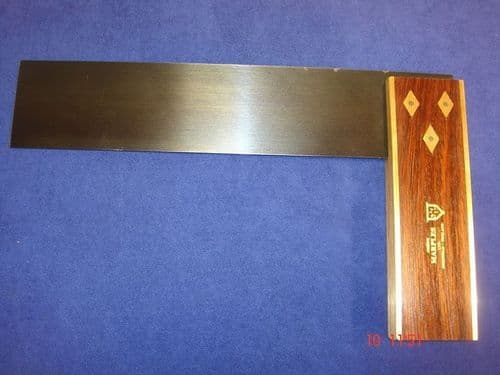 "Joseph Marples Rosewood Carpenters Try Square 230mm 9"" Sheffield TRIAL T09"