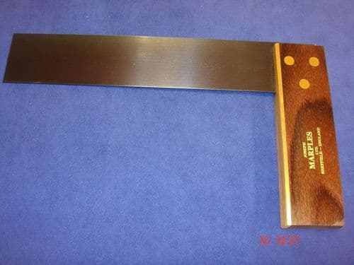 "Joseph Marples Rosewood Carpenters Try Square 235mm 9"" Brass Sheffield 19E"
