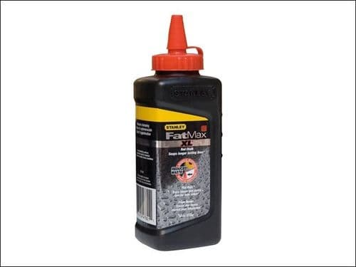 Stanley Tools FatMax XL RED Square Bottle Chalk Line  Powder Refill 225g  9-47-821