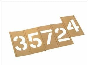 "Stencils Set of Brass Interlocking Stencils 1"" High Figures Numbers 0 - 9"