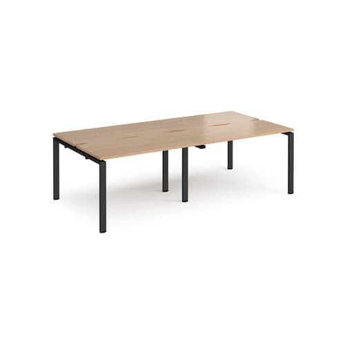 Adapt II Bench Desk System, 4 persons