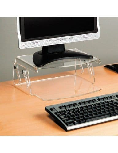 Perspex Height Adjustable Monitor Stand