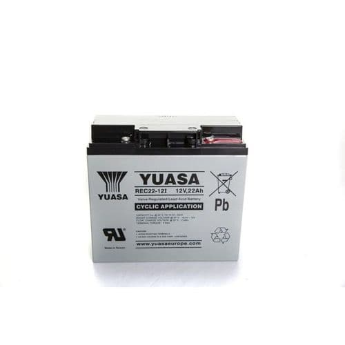 Yuasa 12v 22AH Lead Acid Golf Trolley Battery