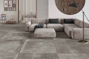 Antibes grey 120 x 120cm Porcelain Tile matt finish.