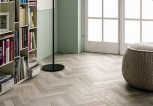 Parquet wood blend white porcelain 8cm x 28cm, 1m2