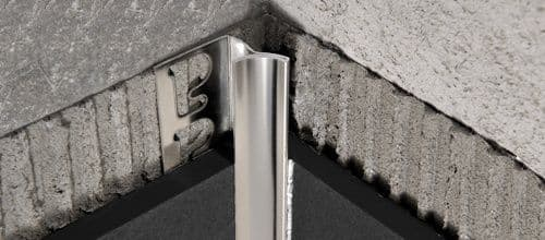 Prointer Polished stainless steel 8mm x 2.7m inner connector for tiles.