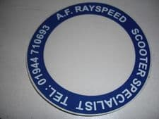 AF rayspeed   tax disc holders  ( blue)