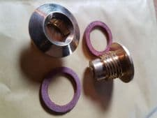 BRASS OIL LEVEL PLUG AND MAGNETIC  DRAIN PLUG