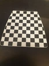 OLD SKOOL BLACK AND WHITE CHECK REAR MUDLAP