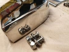 POLISHED STAINLESS SHORT REAR FLOORBOARDS  (Rounded)