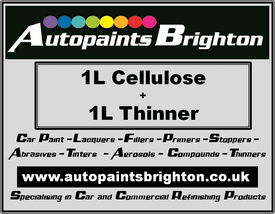 Cellulose Car Paint 1L + Thinner 1L - Prices From