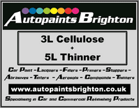 Cellulose Car Paint 3L + Thinner 5L - Prices From