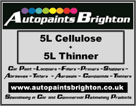 Cellulose Car Paint 5L + Thinner 5L - Prices From