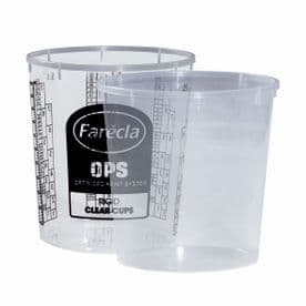 Farecla 650ml Rigid Cups for OPS Flexible System 200 Pack (Various Types)