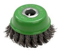 """Green ZIP Wheel Twisted Knot Wire Brush 100mm 4"""" Grinder"""