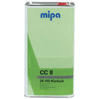 Mipa 2K CC8 Clearcoat 5L + 2.5L Lacquer Kit (Various Hardener)
