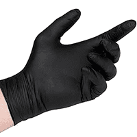 Nitrile Black Gloves Box 100