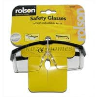 Rolson Safety Glasses with Adjustable arms