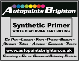 Synthetic High Build Primer White Fast Drying (Various Sizes)