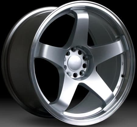 """Nissan 350z fitment Rota GTR Wheels - 19"""" - Silver with polished lip"""