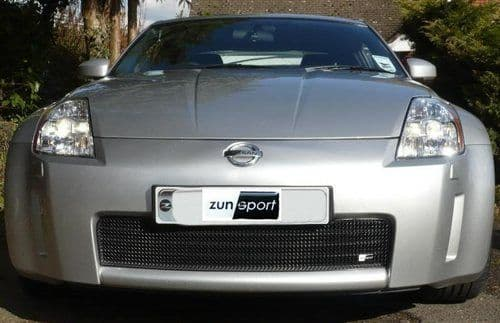 Nissan 350Z Zunsport Lower Grille without towing eye Black MY03