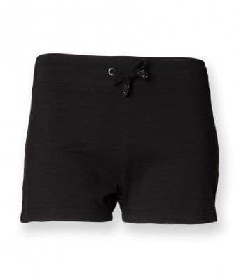 ADULT BLACK SHORTS WITH EMBROIDERD LOGO