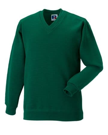 C.R.F.C ADULT V NECK SWEATSHIRT WITH EMBROIDERED LOGO