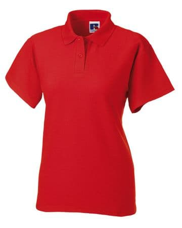 CAITHNESS LADIES FC FITTED POLO SHIRT WITH EMBROIDERED LOGO