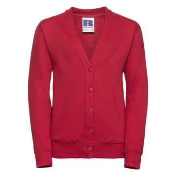 CASTLETOWN PRIMARY SCHOOL CLASSIC RED CARDIGAN WITH LOGO