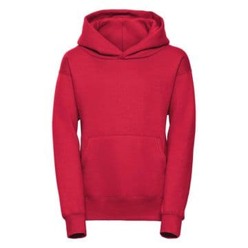 CASTLETOWN PRIMARY SCHOOL CLASSIC RED PULLOVER HOODIE WITH LOGO