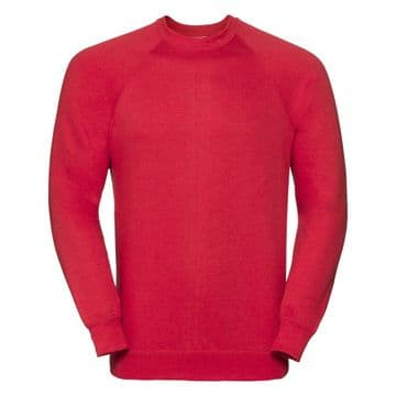 CASTLETOWN PRIMARY SCHOOL CLASSIC RED SWEATSHIRT WITH LOGO