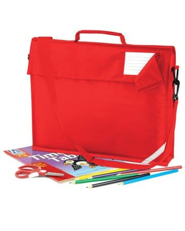 CASTLETOWN PRIMARY SCHOOL JUNIOR RED BOOK BAG WITH STRAP WITH LOGO